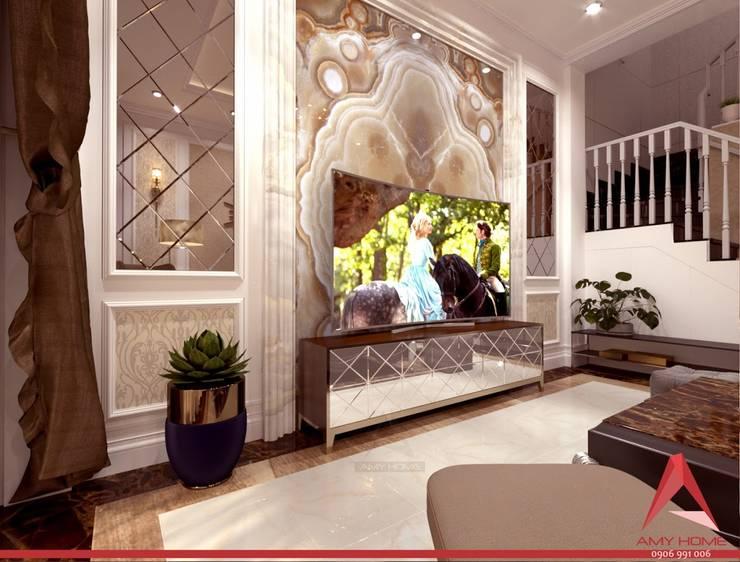 Nhà ở Phường Tân Hưng:  Living room by Công Ty TNHH Amy Home