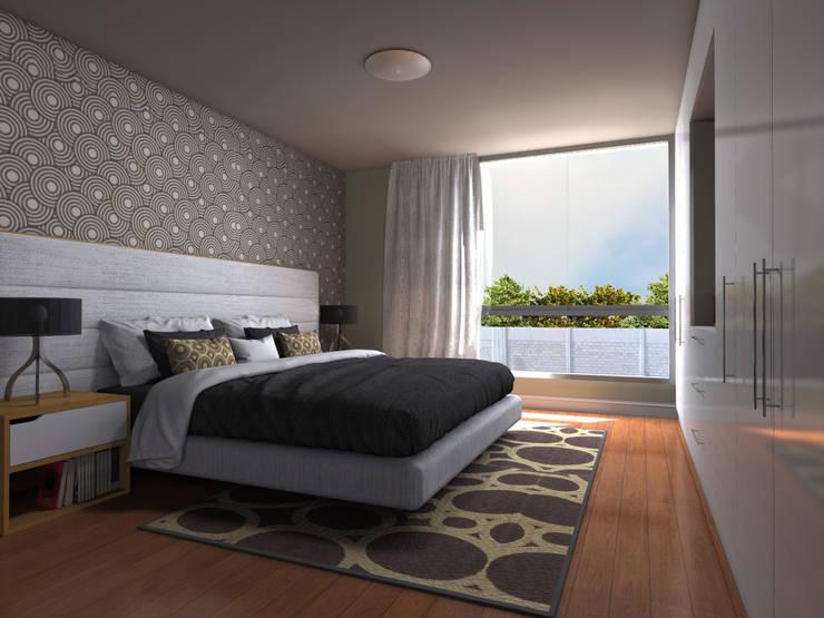 Dormitorio Principal: Dormitorios de estilo  por RAUM Estudio