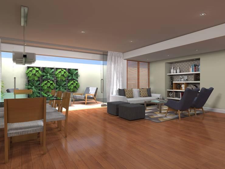 Sala y Comedor: Salas / recibidores de estilo  por RAUM Estudio