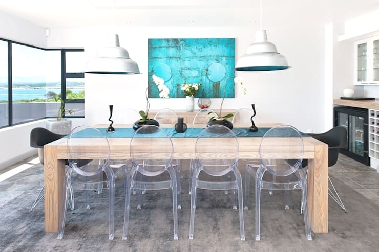 New Build Guest House de Kelders:  Dining room by Overberg Interiors, Modern