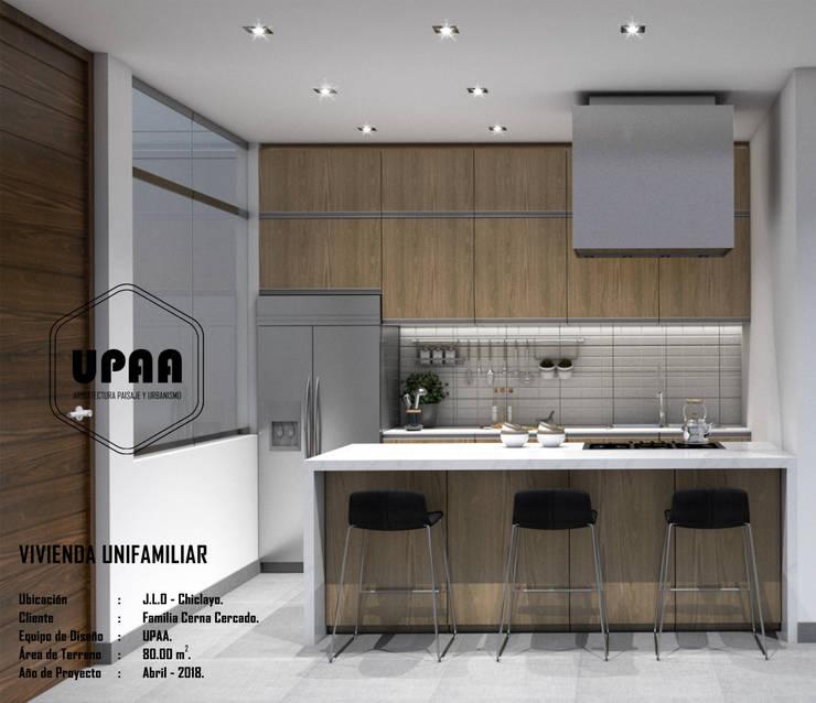 COCINA : Cocinas equipadas de estilo  por UPAA ARQUITECTOS