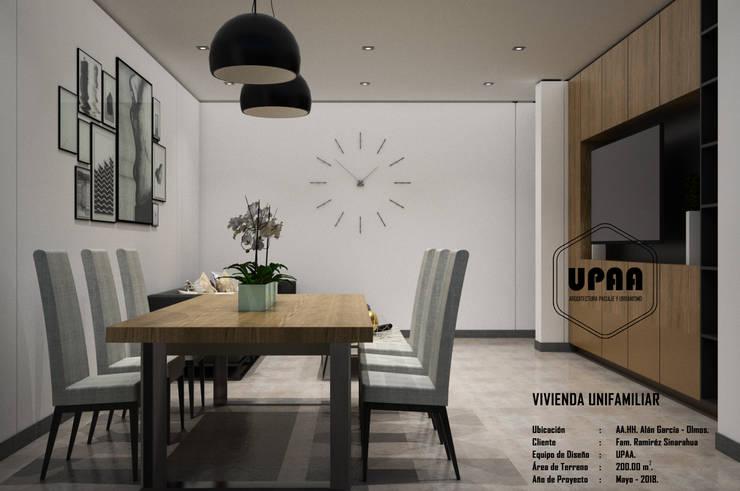 COMEDOR: Comedores de estilo  por UPAA ARQUITECTOS, Moderno