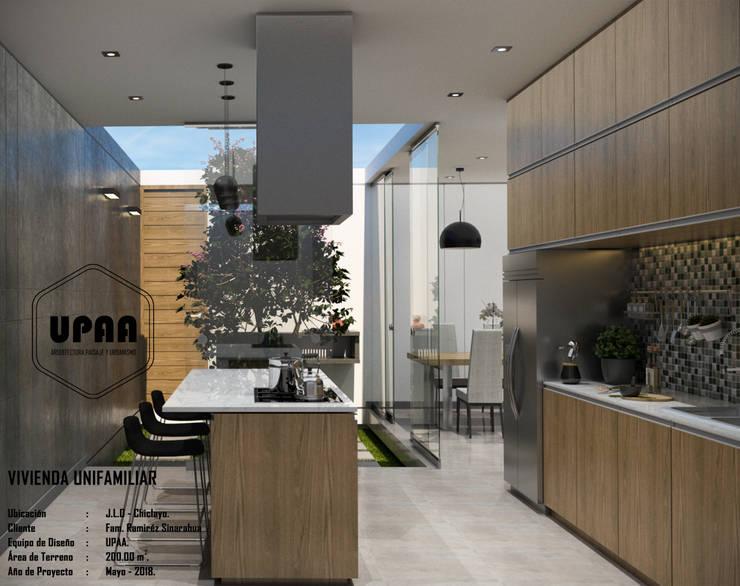 COCINA: Cocinas equipadas de estilo  por UPAA ARQUITECTOS, Moderno