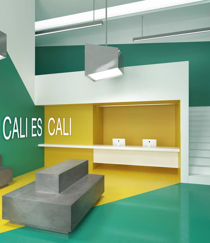 Diseño de Hall para hotel en la ciudad de cali.: Hoteles de estilo  por Pragma - Diseño, Moderno