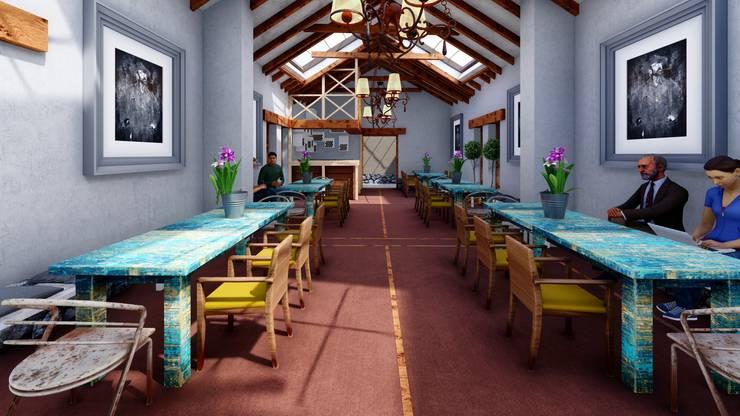 Interior Comedor: Comedores de estilo  por FRANCO CACERES / Arquitectos & Asociados, Rústico