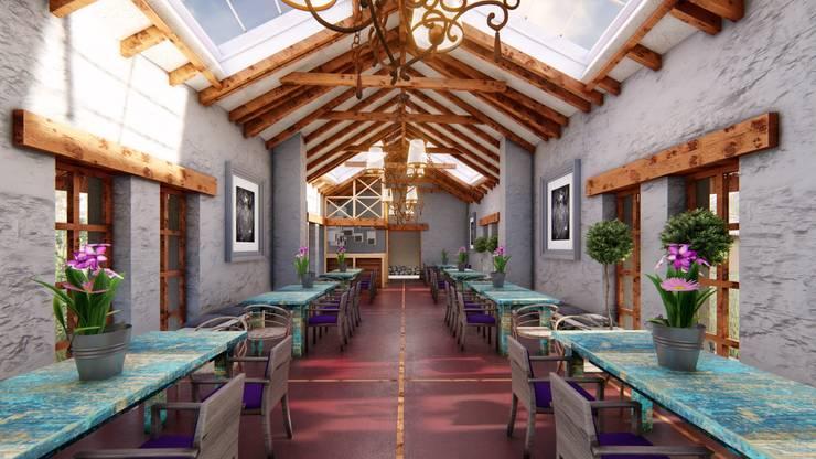 Comedor Principal: Comedores de estilo  por FRANCO CACERES / Arquitectos & Asociados, Rústico