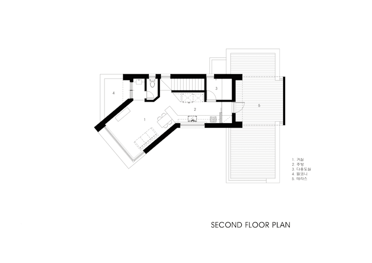 2층평면도: 호림건축사사무소의  ,