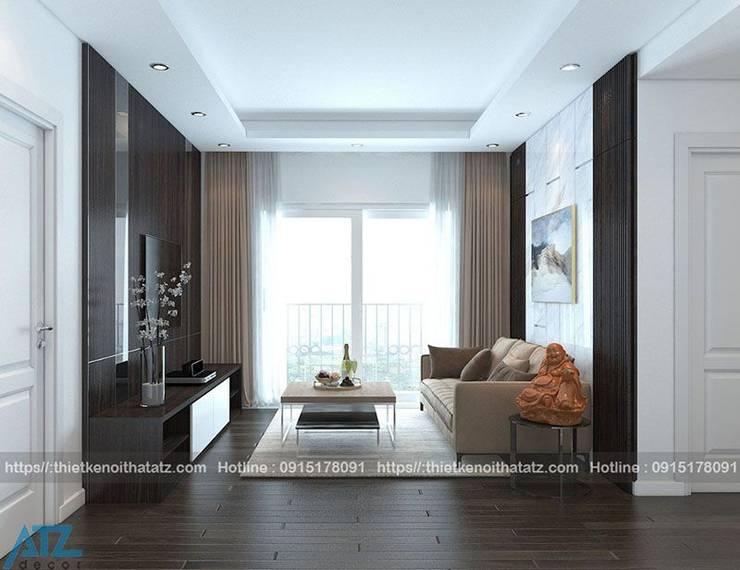 Thiết kế, thi công nội thất chung cư green bay:  Bedroom by CÔNG TY CỔ PHẦN THƯƠNG MẠI, THIẾT KẾ VÀ TRANG TRÍ NỘI THẤT ATZ VIỆT NAM