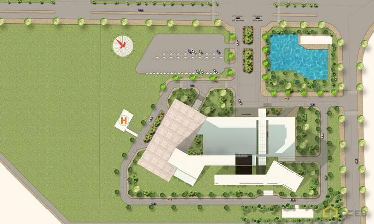 thiết kế bệnh viện nghỉ dưỡng & phục hồi chức năng Đồng Hới:   by thiết kế khách sạn hiện đại CEEB