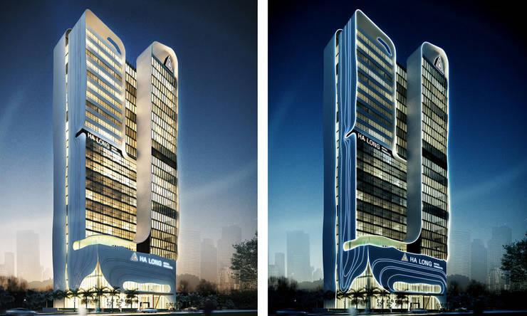 thiết kế phối cảnh khách sạn hiện đại Hạ Long:   by thiết kế khách sạn hiện đại CEEB