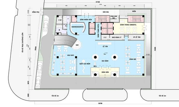 mặt bằng thiết kế khách sạn hiện đại Hạ Long:  Sàn by thiết kế khách sạn hiện đại CEEB
