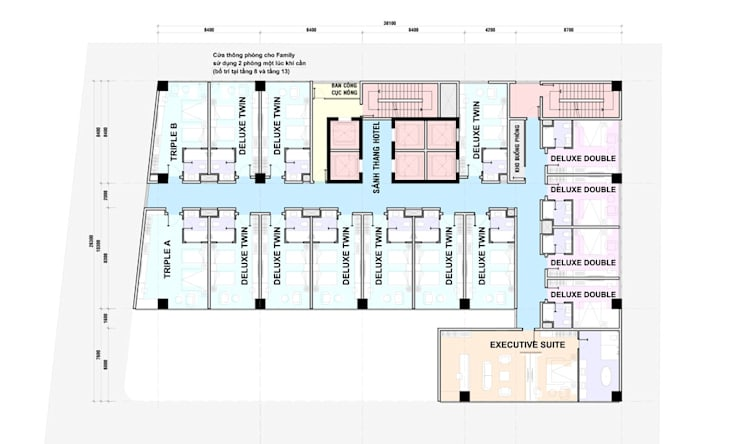 mặt bằng thiết kế khách sạn hiện đại Hạ Long:   by thiết kế khách sạn hiện đại CEEB