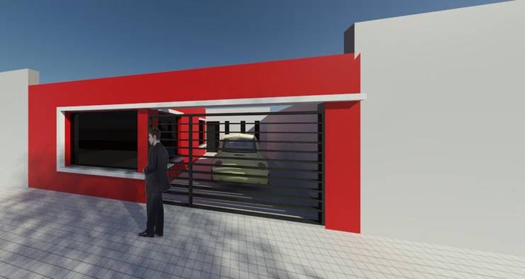 Tipologia vivienda unifamiliar de dos dormitorios.: Casas de estilo  por DF ARQ,
