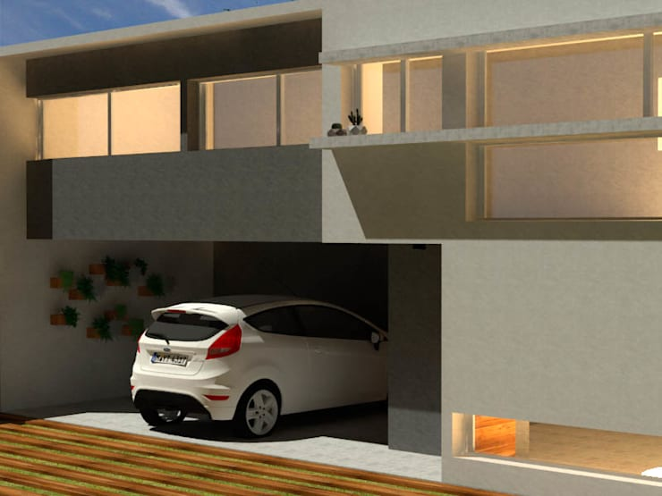 Casa FM: Casas unifamiliares de estilo  por Dinamismo Arquitectura,