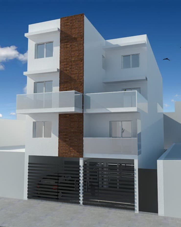 Fachada: Casas multifamiliares de estilo  por Dinamismo Arquitectura,