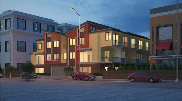 10-unit multifamily building architecture design Redwood City, CA:  Multi-Family house by S3DA Design