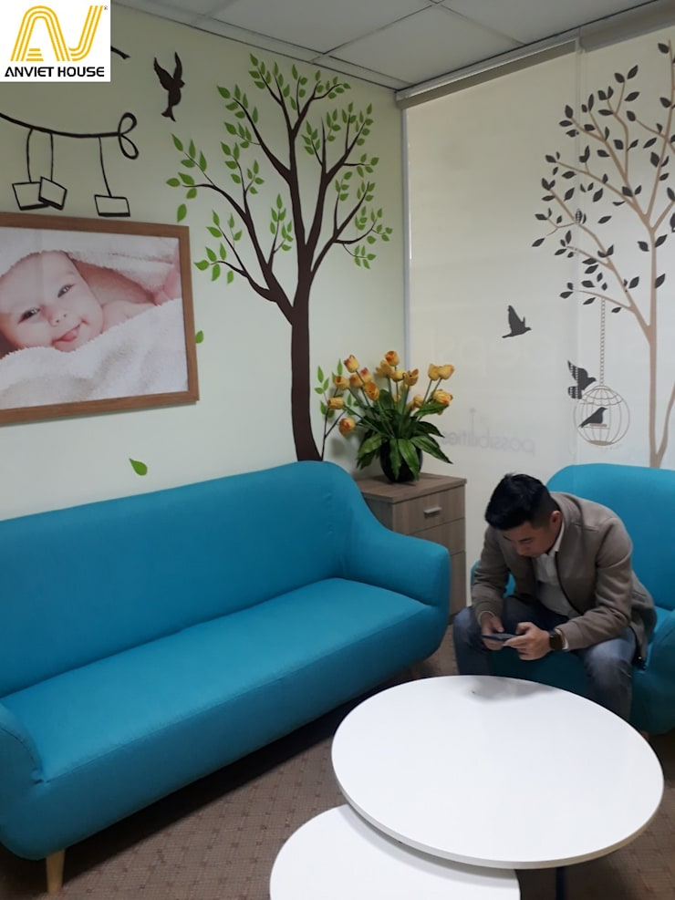Thiết kế nội thất văn phòng - Phòng thư giãn công ty Pepsico:  Study/office by An Viet Trading and Interior Service Joint Stock Company