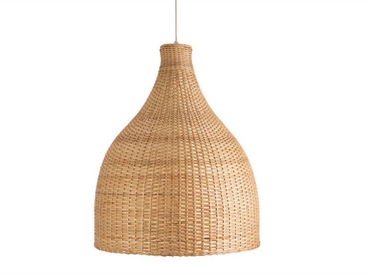 Lámpara modelo Danesa: Cocina de estilo  por ELMIMBRE Spa - Diseño, Fabricación y Comercialización de productos en Mimbre - Región Metropolitana - Chile