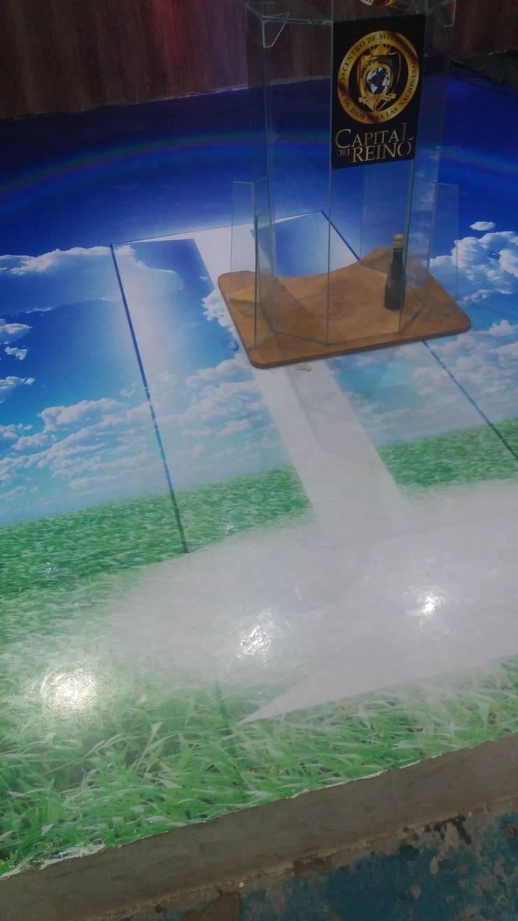 Porcelanato liquido : Clínicas y consultorios médicos de estilo  por Nueva tecnologia en piso 3d,