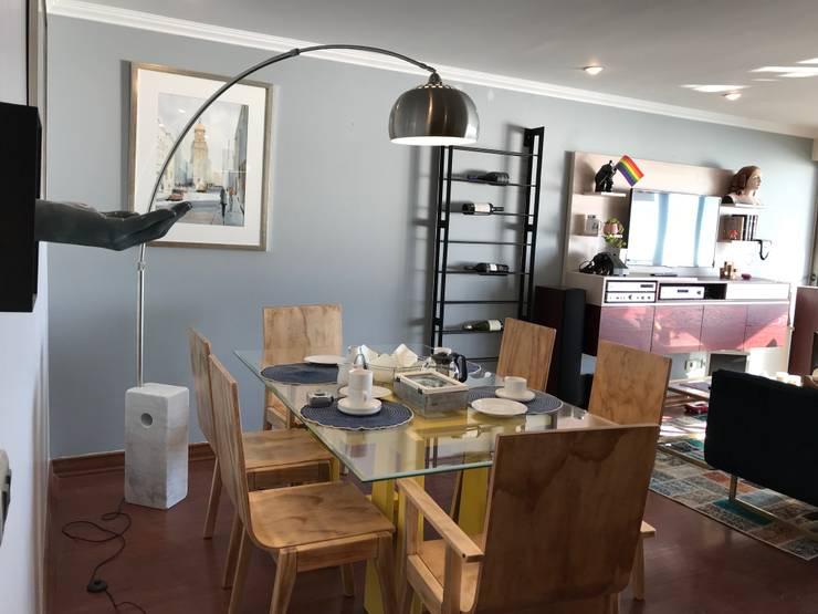 Reforma Comedor / depto Concón: Comedores de estilo  por Kaa Interior | Arquitectura de Interior | Santiago