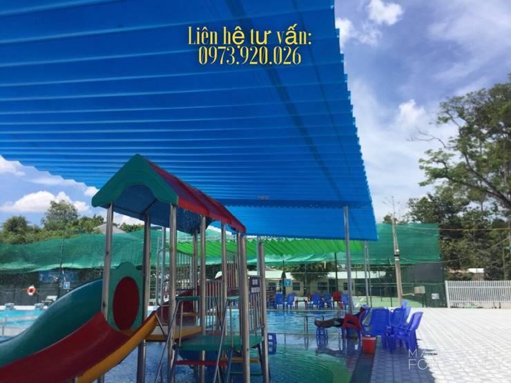 Thiết kế và thi công mái che hồ bơi tại Bình Dương, Đồng Nai, Tp Hồ Chí Minh:   by CÔNG TY TNHH CK XD TM DV TÂM PHÁT