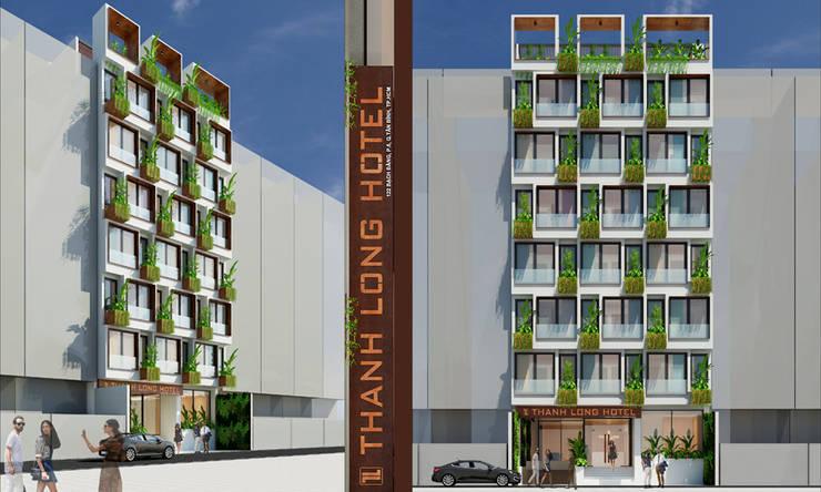 Casas modernas: Ideas, diseños y decoración de thiết kế khách sạn hiện đại CEEB Moderno