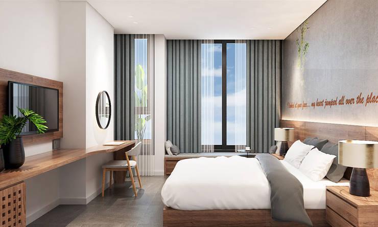 thiết kế nội thất khách sạn hiện đại Thanhlong:  Phòng ngủ by thiết kế khách sạn hiện đại CEEB