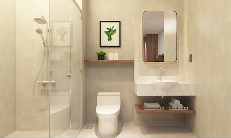 thiết kế nội thất phòng tắm khách sạn hiện đại Thanhlong:  Phòng tắm by thiết kế khách sạn hiện đại CEEB