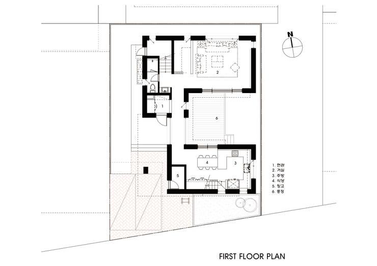 1층평면도: 호림건축사사무소의  ,