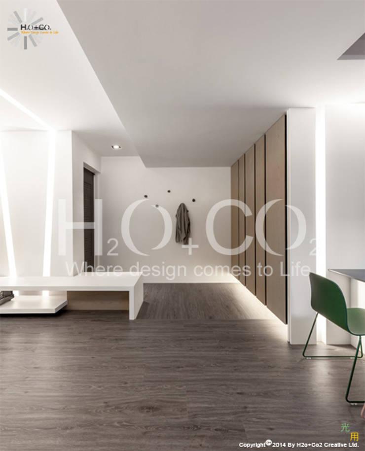 質樸:  走廊 & 玄關 by 光合作用設計有限公司
