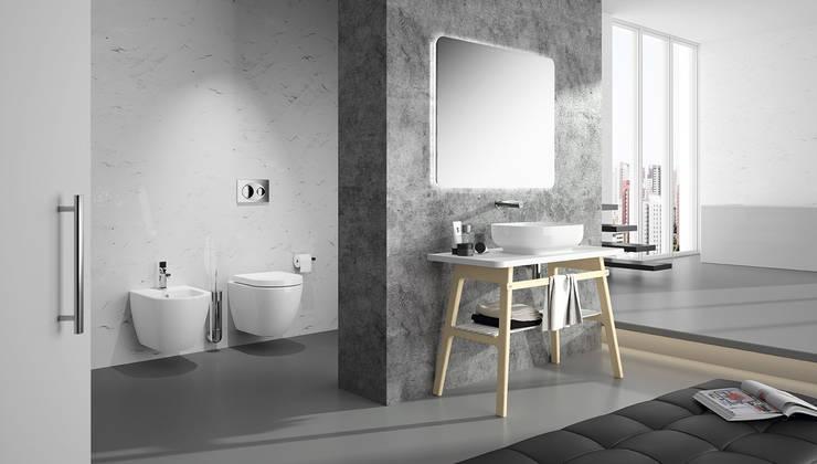 móvel com lavatório: Casa de banho  por Melissa vilar