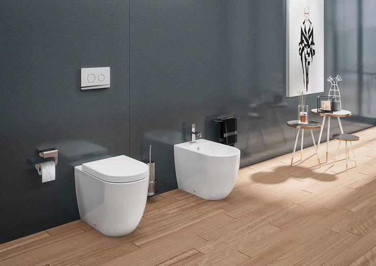 série sanitária sanibold - simples: Casa de banho  por Melissa vilar