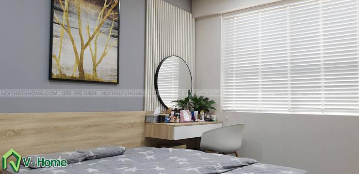 Bàn phấn phòng ngủ master:  Bedroom by Công ty CP tư vấn thiết kế và xây dựng V-Home