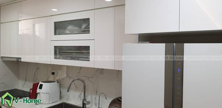Không gian nhà bếp:  Kitchen by Công ty CP tư vấn thiết kế và xây dựng V-Home