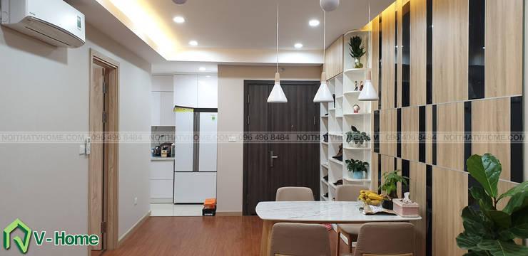 Phòng khách căn hộ:  Living room by Công ty CP tư vấn thiết kế và xây dựng V-Home