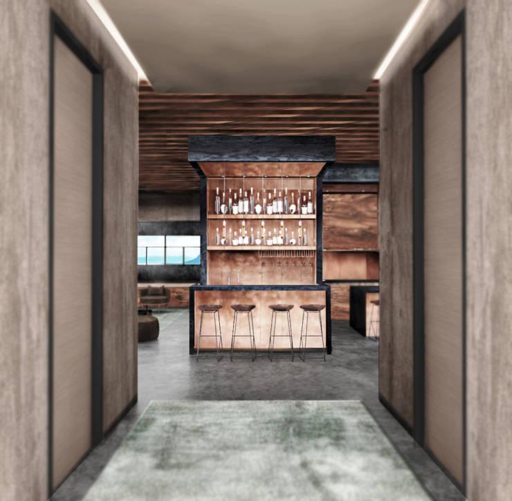 Corridor & hallway by Deev Design, Modern Copper/Bronze/Brass