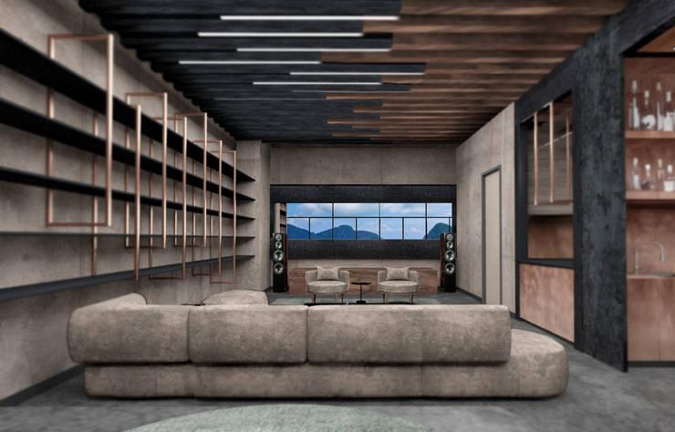 Living room by Deev Design, Modern Wood Wood effect