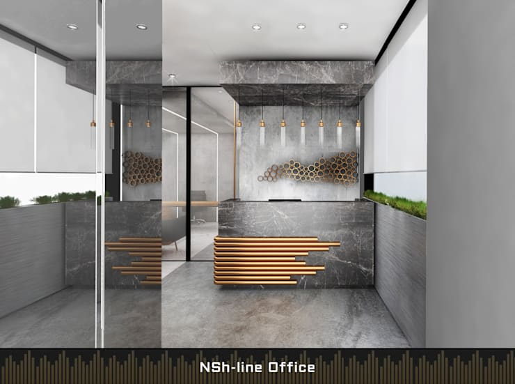 Offices & stores by Deev Design, Modern Silver/Gold