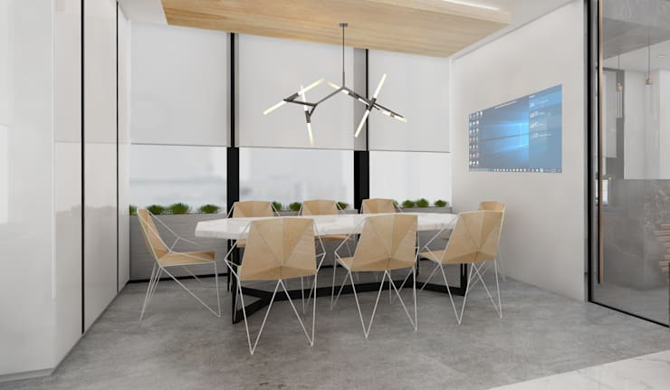 Offices & stores by Deev Design, Modern Wood Wood effect