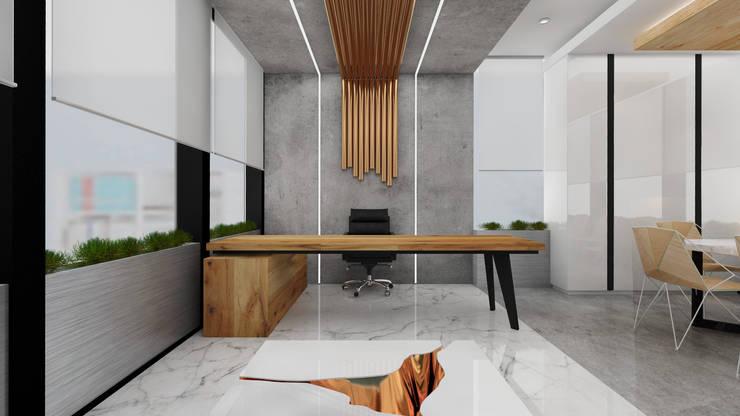 Offices & stores by Deev Design, Modern Copper/Bronze/Brass