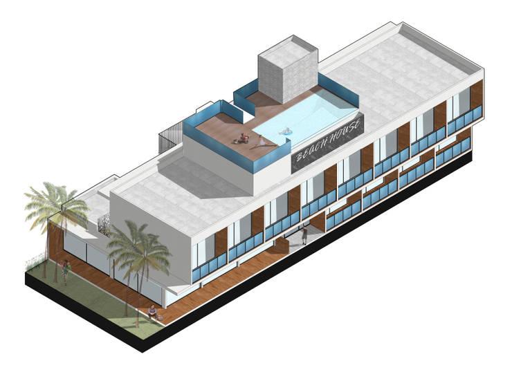 AXONOMETRICA: Casas de estilo  por RT Arq+Di,
