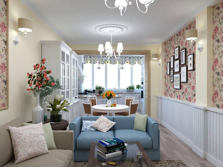 Дизайн квартиры в стиле Прованс: Маленькие кухни в . Автор – Студия Ольги Таракановой