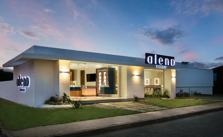 Fachada Principal: Casas pequeñas de estilo  por Sentido Interior Arquitectos, Moderno Concreto