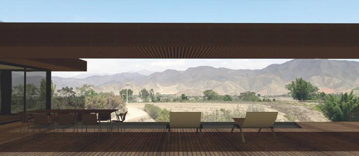 Vista al Valle de Mala: Casas de campo de estilo  por MESIA ARQUITECTOS, Moderno