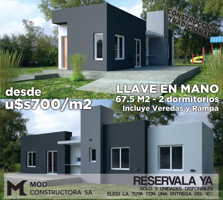 MOD SA: Casas ecológicas de estilo  por MOD CONSTRUCTORA SA,