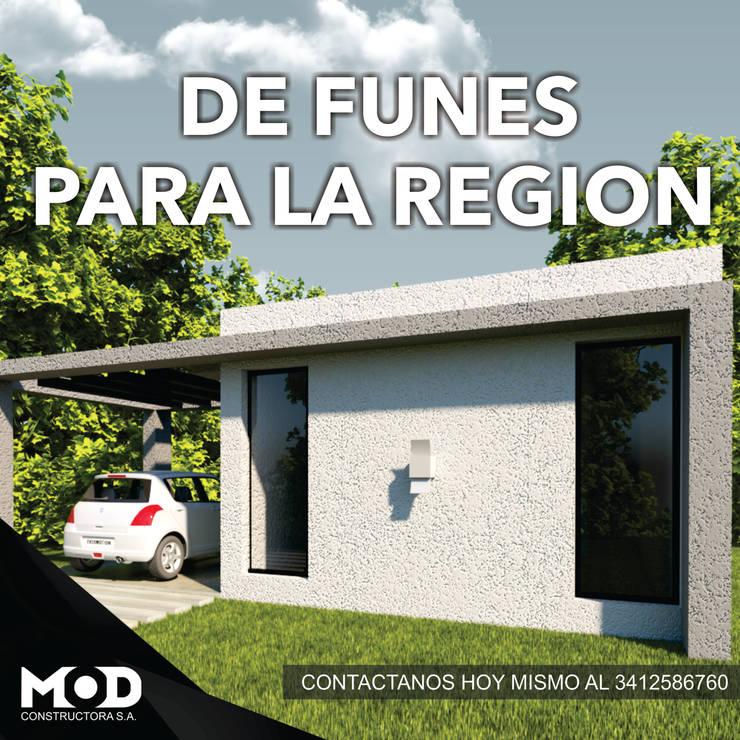 DE FUNES PARA LA REGION: Casas de estilo  por MOD CONSTRUCTORA SA,