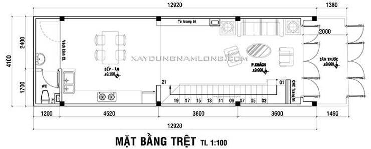 Thiết kế nhà đẹp diện tích 4x14m đẹp hiện đại:   by Thiết kế nhà đẹp ở Hồ Chí Minh