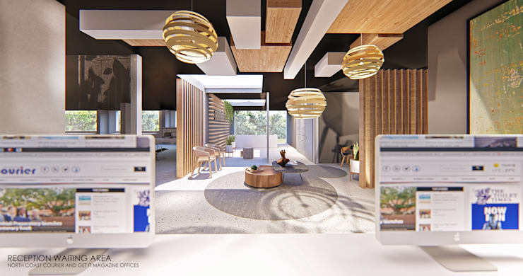 Reception Area - Waiting Room:  Offices & stores by OMNI Architects, Modern