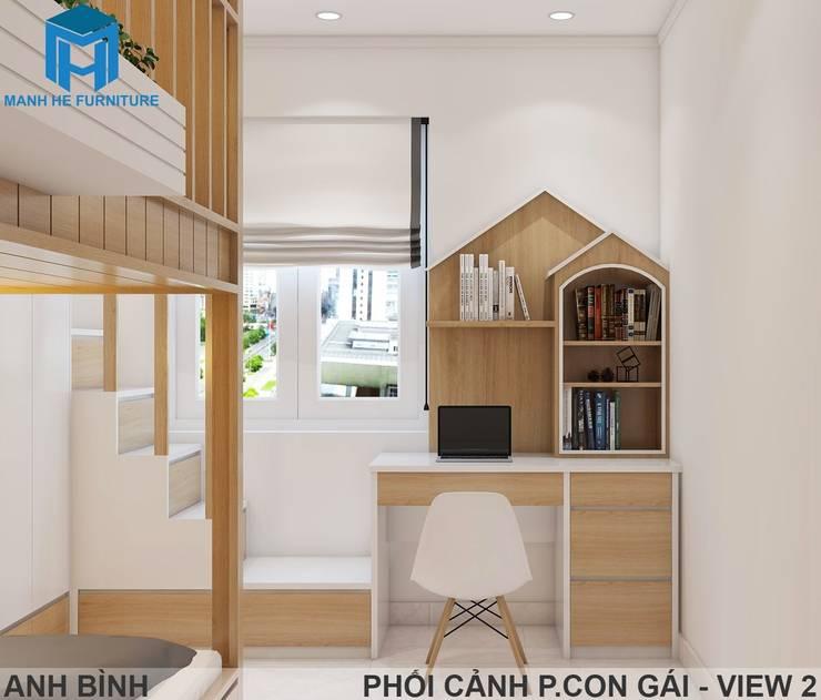 Designer:  Phòng ngủ nhỏ by Công ty TNHH Nội Thất Mạnh Hệ