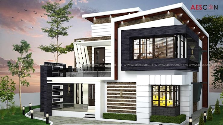 Houses by Aescon Builders and Architects, Asian